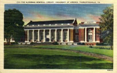 Library, University of Virginia - Charlottesville Postcard