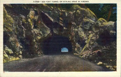 600 Ft Tunnel - Misc, Virginia VA Postcard