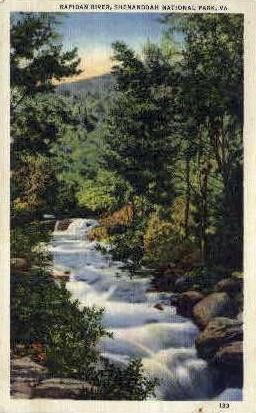 Rapidan River - Misc, Virginia VA Postcard