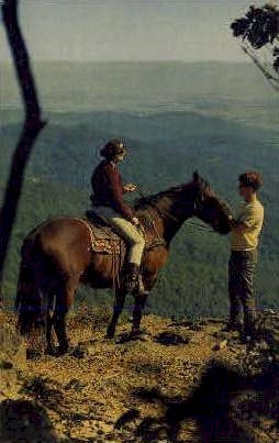 Girl on Horseback - Shenandoah National Park, Virginia VA Postcard