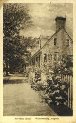 Pitt-Dixon House - Williamsburg, Virginia VA Postcard