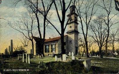 St. Johns Church - Richmond, Virginia VA Postcard