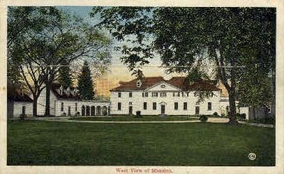 Non-Postcard Backing View of Mansion - Mt Vernon, Virginia VA