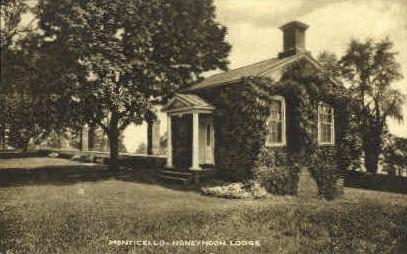 Honeymoon Lodge - Monticello, Virginia VA Postcard