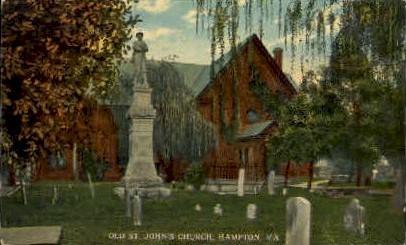 St. Johns Church - Hampton, Virginia VA Postcard