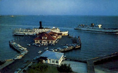 Old Point Comfort Wharf - Fort Monroe, Virginia VA Postcard