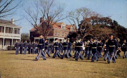 Parade at Ft. Monroe - Point Comfort, Virginia VA Postcard