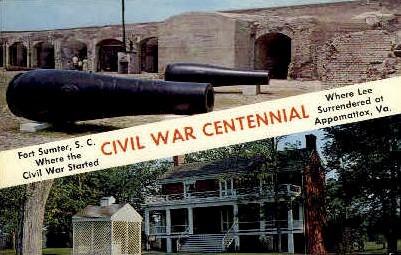 Civil War Centennial - Misc, Virginia VA Postcard