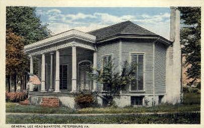 General Lee HQ - Petersburg, Virginia VA Postcard