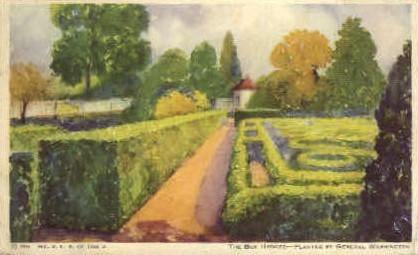 The Box Hedges - Mt Vernon, Virginia VA Postcard