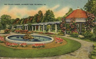 Italian Garden - Richmond, Virginia VA Postcard