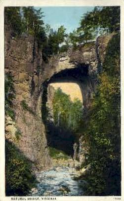 Natural Bridge - Virginia VA Postcard