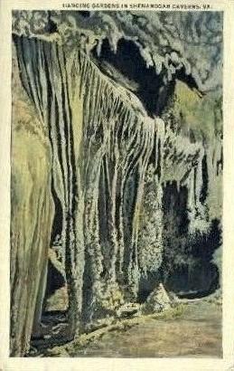 Hanging Gardens - Shenandoah Caverns, Virginia VA Postcard