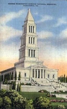 George Washington Memorial - Alexandria, Virginia VA Postcard