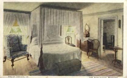 Washington Bedroom - Mt Vernon, Virginia VA Postcard