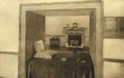 Alcove Bed, Monticello - Charlottesville, Virginia VA Postcard