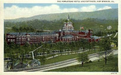 The Homestead Hotel & Cottages - Hot Springs, Virginia VA Postcard