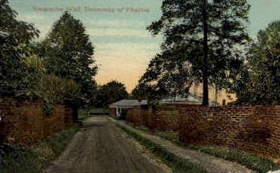 Serpentine Wall, University of Virginia - Misc Postcard