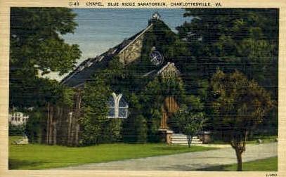 Chapel  - Charlottesville, Virginia VA Postcard