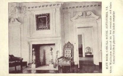 Blue Room, Carlyle House - Alexandria, Virginia VA Postcard