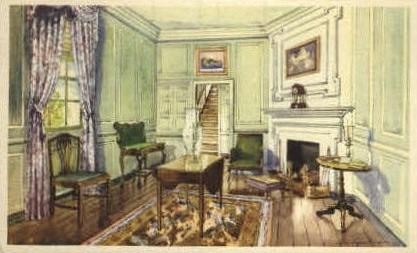 Martha Washingtons Sitting Room - Mt Vernon, Virginia VA Postcard