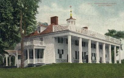 Washington Mansion - Mt Vernon, Virginia VA Postcard