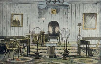 Interior of Lodge - Alexandria, Virginia VA Postcard