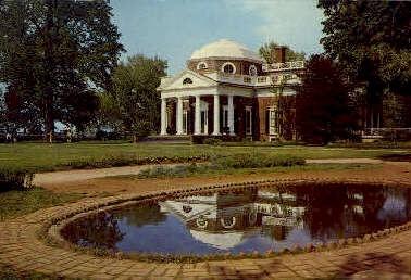 Monticello - Charlottesville, Virginia VA Postcard