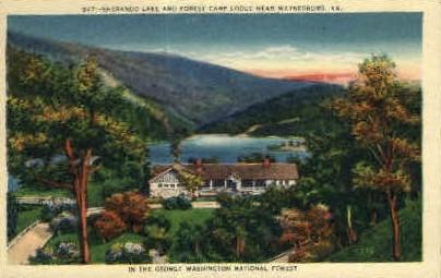 Sherando Lake & Forest Camp Lodge - Waynesboro, Virginia VA Postcard