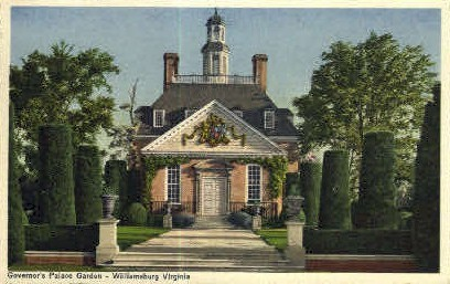 Governors Mansion Garden  - Williamsburg, Virginia VA Postcard