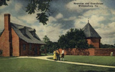 Magazine & Guardhouse - Williamsburg, Virginia VA Postcard