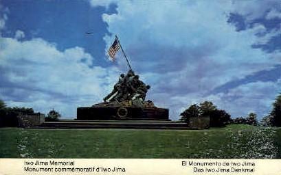 Iwo Jima Memorial - Arlington, Virginia VA Postcard