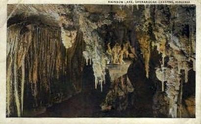 Rainbow Lake - Shenandoah Caverns, Virginia VA Postcard