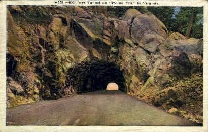 600 Ft Tunnel - Misc, Virginia VA Postcard