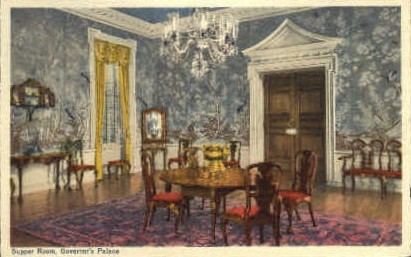 Supper Room, Governors Palace - Williamsburg, Virginia VA Postcard