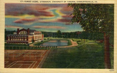 Gym, University of Virginia - Charlottesville Postcard