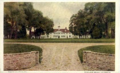 Bowling Green - Mt Vernon, Virginia VA Postcard