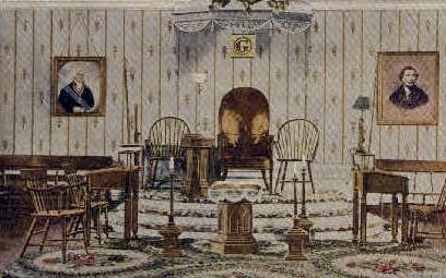 Origional Lodge Room - Alexandria, Virginia VA Postcard