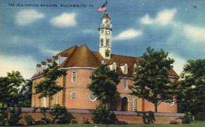 Old Capitol Bldg. - Williamsburg, Virginia VA Postcard