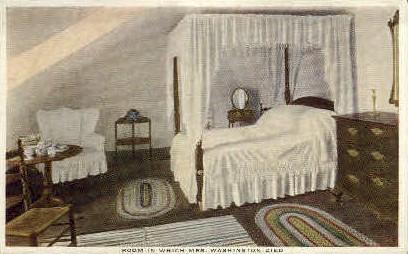 Room where Mrs. Washington Died - Misc, Virginia VA Postcard