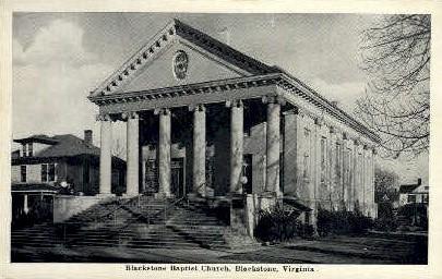 Blackstone Baptist Church - Virginia VA Postcard