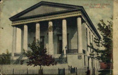 Leigh St. Baptist Church - Richmond, Virginia VA Postcard