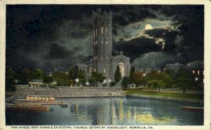 Haugue & Christ Episcopal Church - Norfolk, Virginia VA Postcard