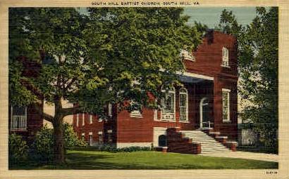 South Hill Baptist Church - Virginia VA Postcard