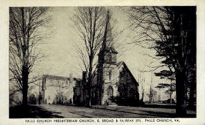 Falls Chruch Presbyterian Chruch - Falls Church, Virginia VA Postcard