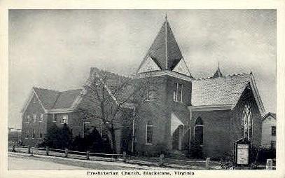 Presbyterian Chruch - Blackstone, Virginia VA Postcard