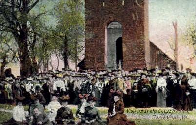 Old Chruch Ruins - Jamestown, Virginia VA Postcard