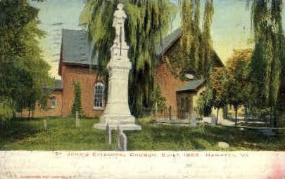 St. Johns Episcopal Church - Hampton, Virginia VA Postcard