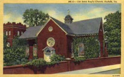 Old St. Pauls Church - Norfolk, Virginia VA Postcard