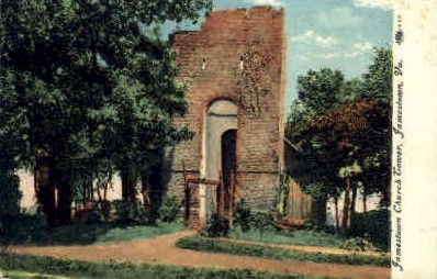 Jamestown Church Tower - Virginia VA Postcard